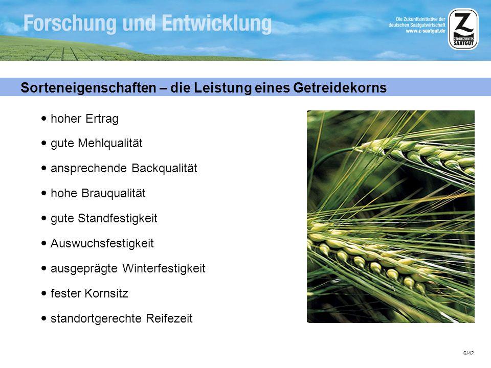 Sorteneigenschaften – die Leistung eines Getreidekorns