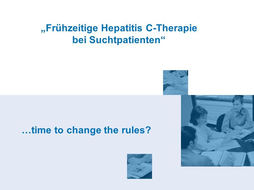 """""""Frühzeitige Hepatitis C-Therapie bei Suchtpatienten"""