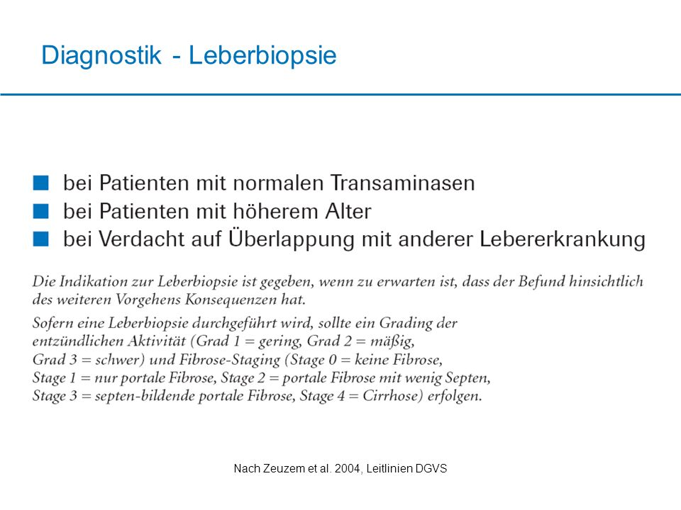 Diagnostik - Leberbiopsie