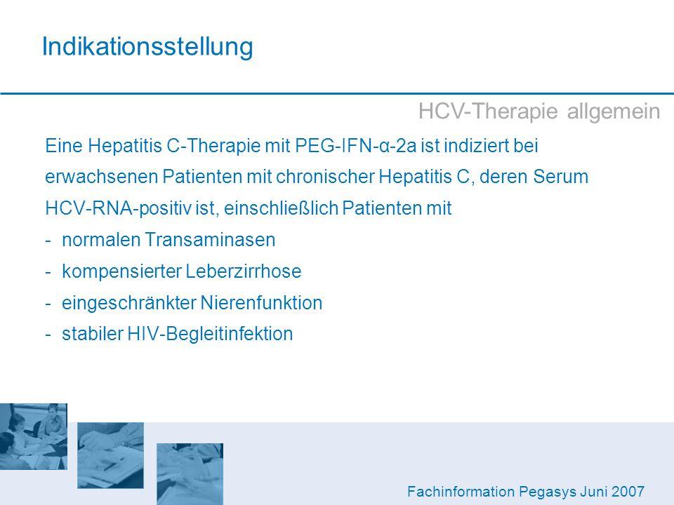 Indikationsstellung HCV-Therapie allgemein