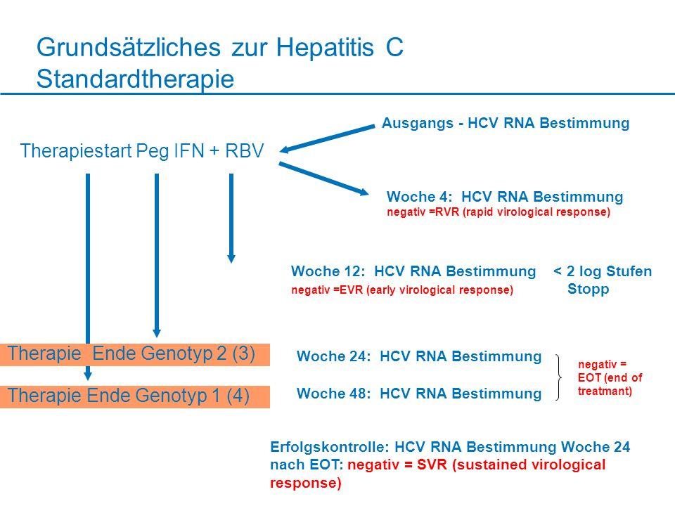 Grundsätzliches zur Hepatitis C Standardtherapie