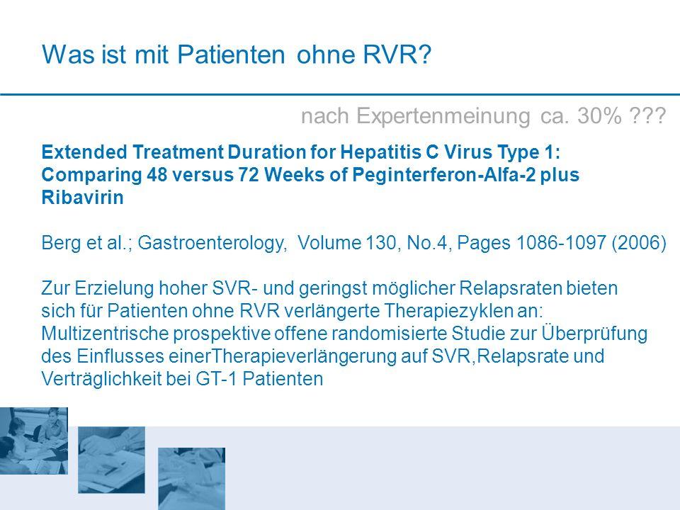 Was ist mit Patienten ohne RVR