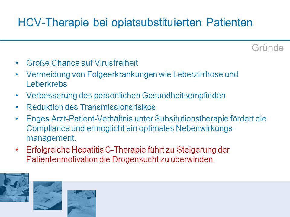HCV-Therapie bei opiatsubstituierten Patienten