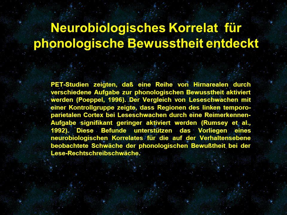 Neurobiologisches Korrelat für phonologische Bewusstheit entdeckt