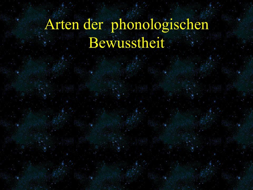 Arten der phonologischen Bewusstheit