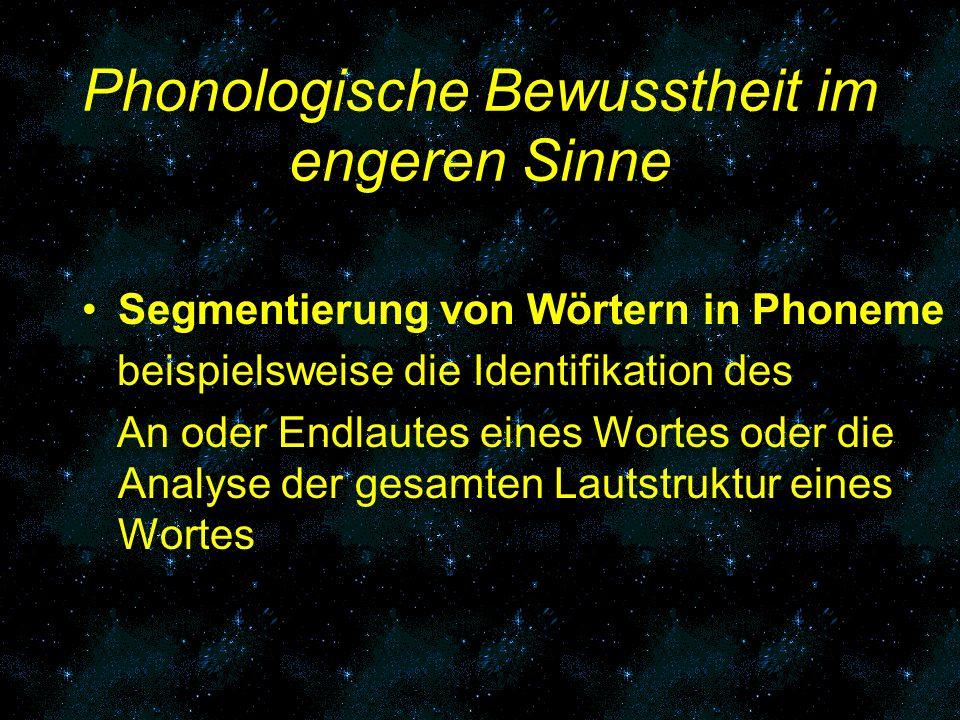 Phonologische Bewusstheit im engeren Sinne