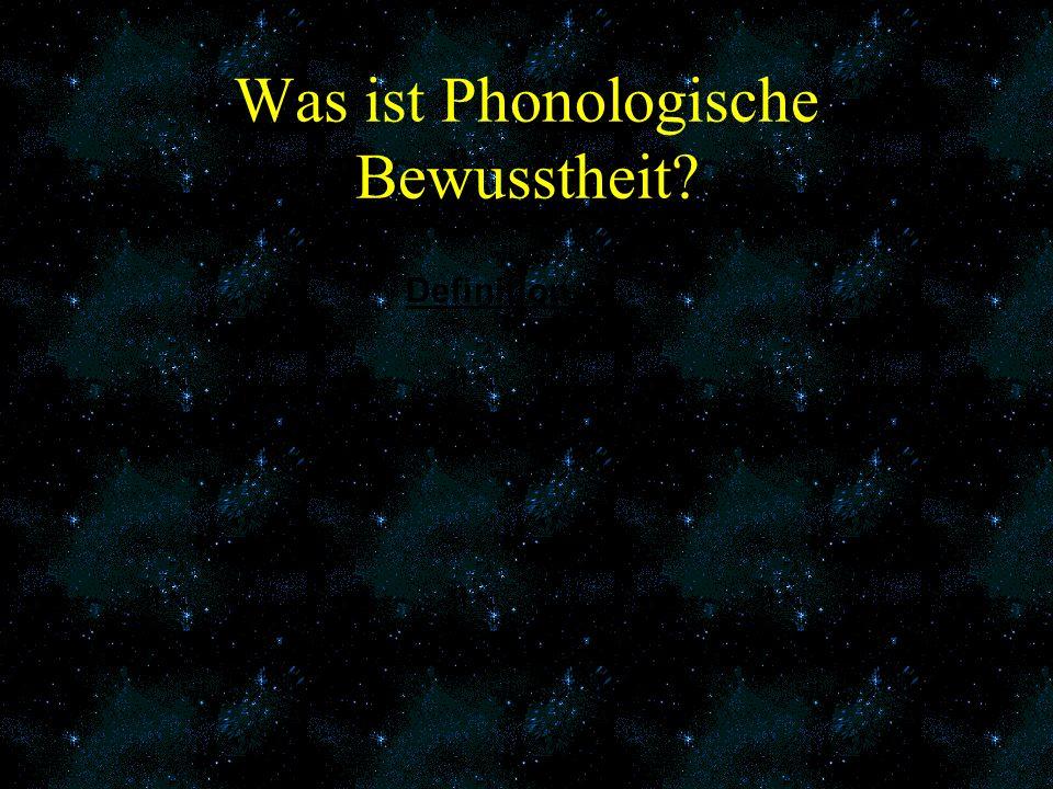 Was ist Phonologische Bewusstheit
