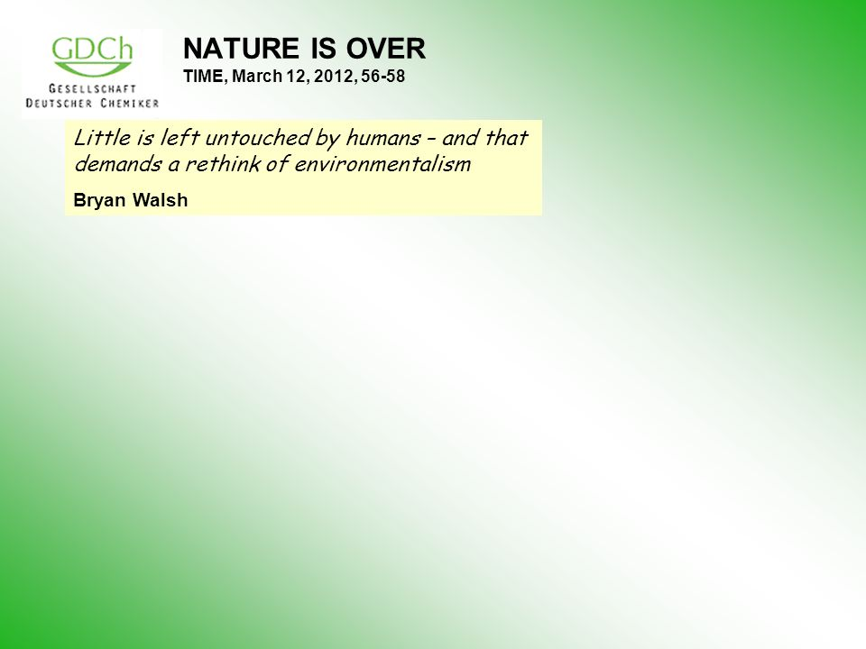 NATURE IS OVER TIME, March 12, 2012, 56-58