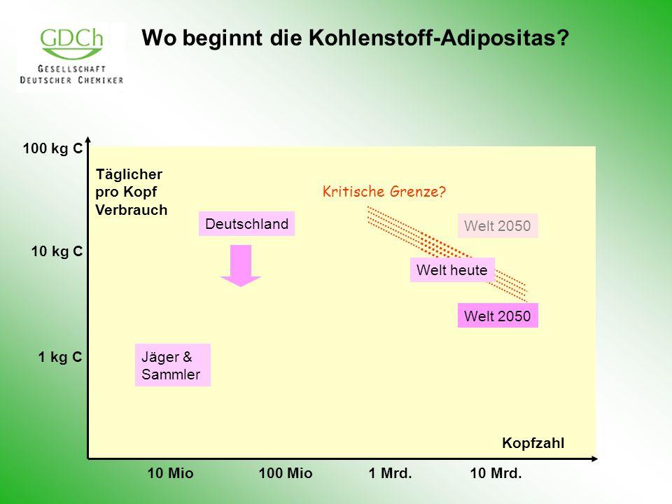 Wo beginnt die Kohlenstoff-Adipositas