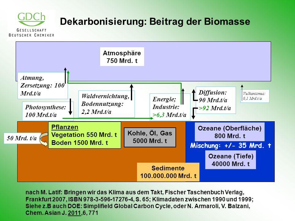 Dekarbonisierung: Beitrag der Biomasse