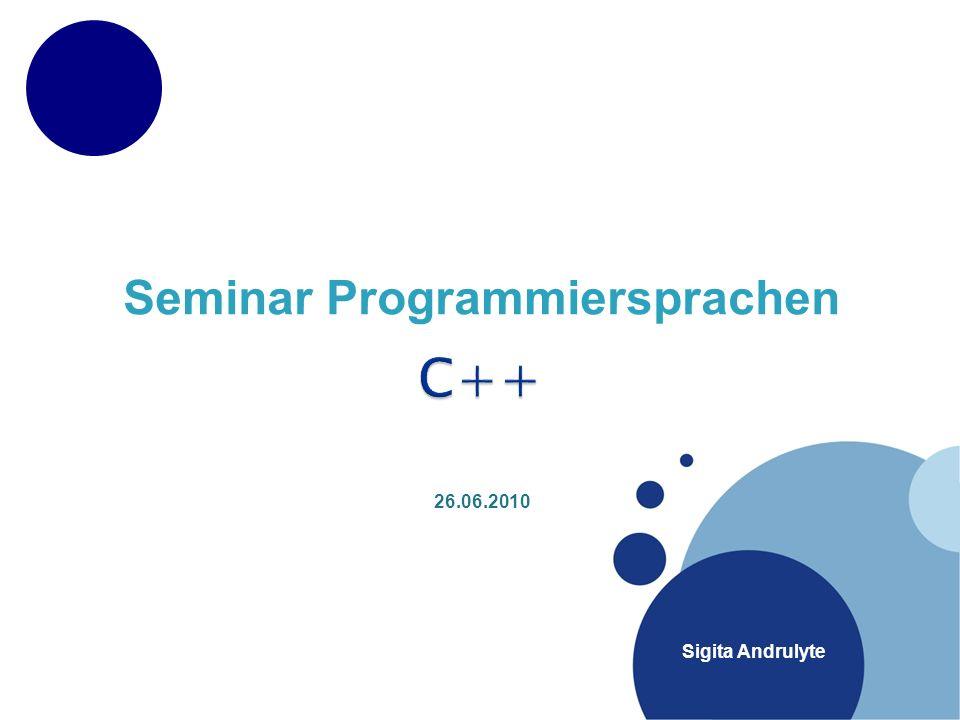 Seminar Programmiersprachen