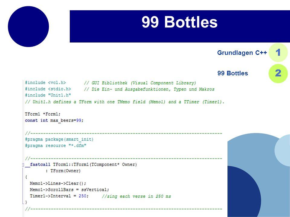 99 Bottles Grundlagen C++ 1 99 Bottles 2