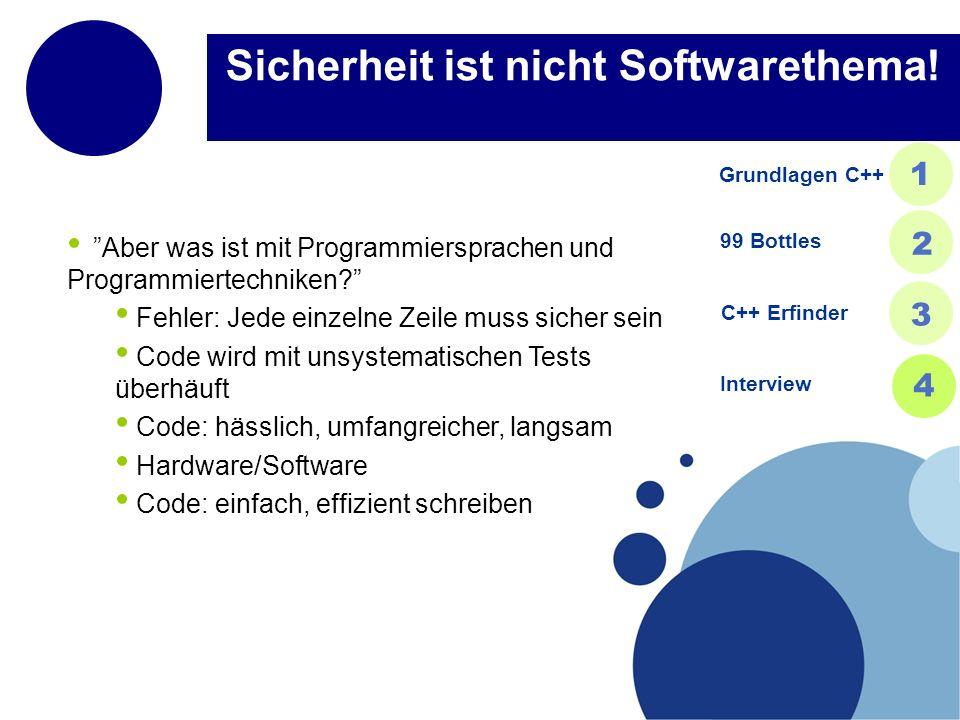 Sicherheit ist nicht Softwarethema!