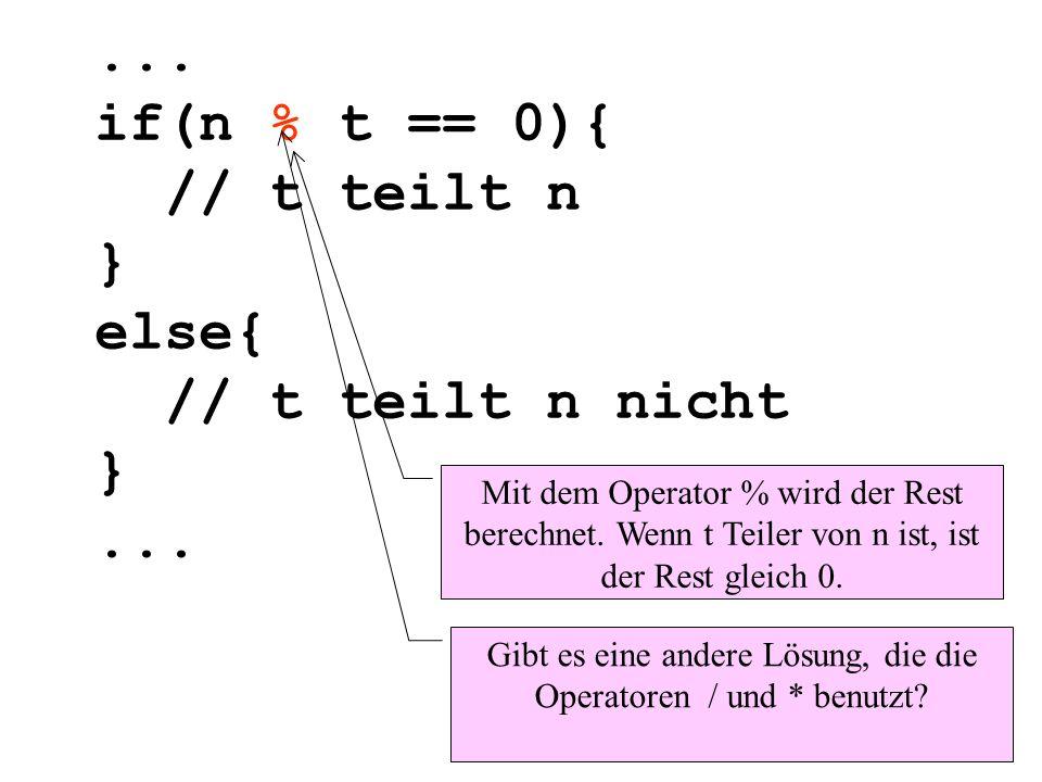 Gibt es eine andere Lösung, die die Operatoren / und * benutzt