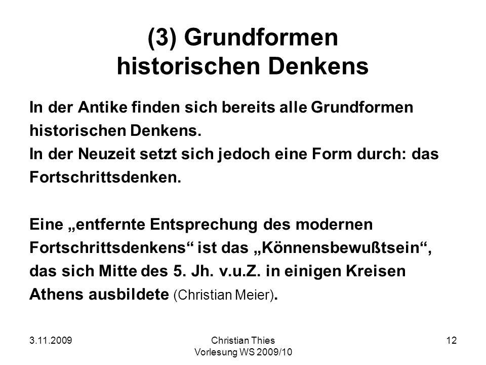 (3) Grundformen historischen Denkens