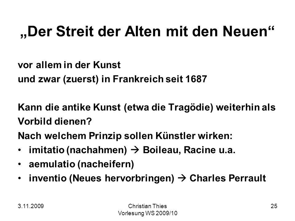 """""""Der Streit der Alten mit den Neuen"""