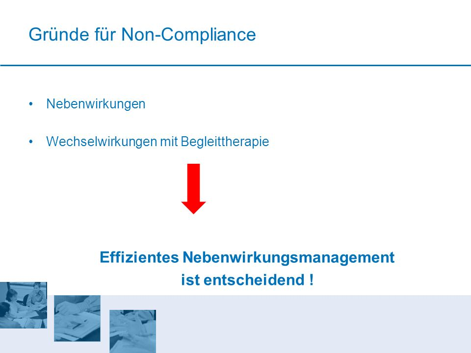 Gründe für Non-Compliance
