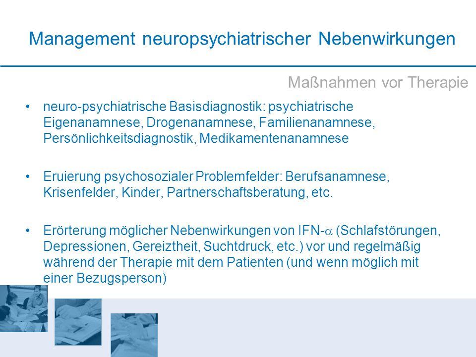 Management neuropsychiatrischer Nebenwirkungen