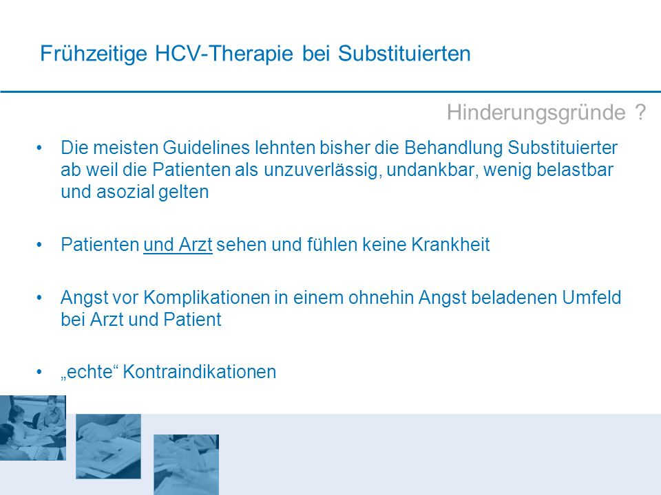 Frühzeitige HCV-Therapie bei Substituierten