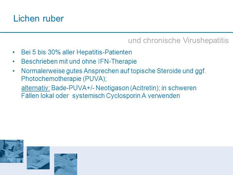 Lichen ruber und chronische Virushepatitis