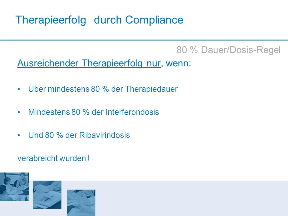 Therapieerfolg durch Compliance