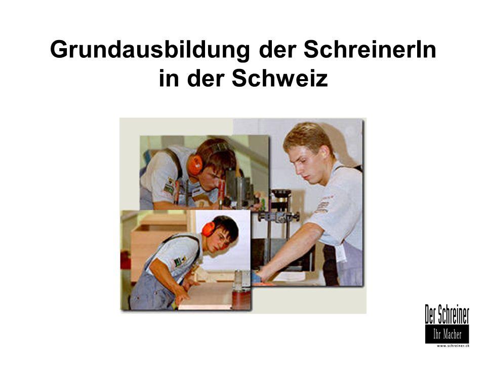 Grundausbildung der SchreinerIn in der Schweiz