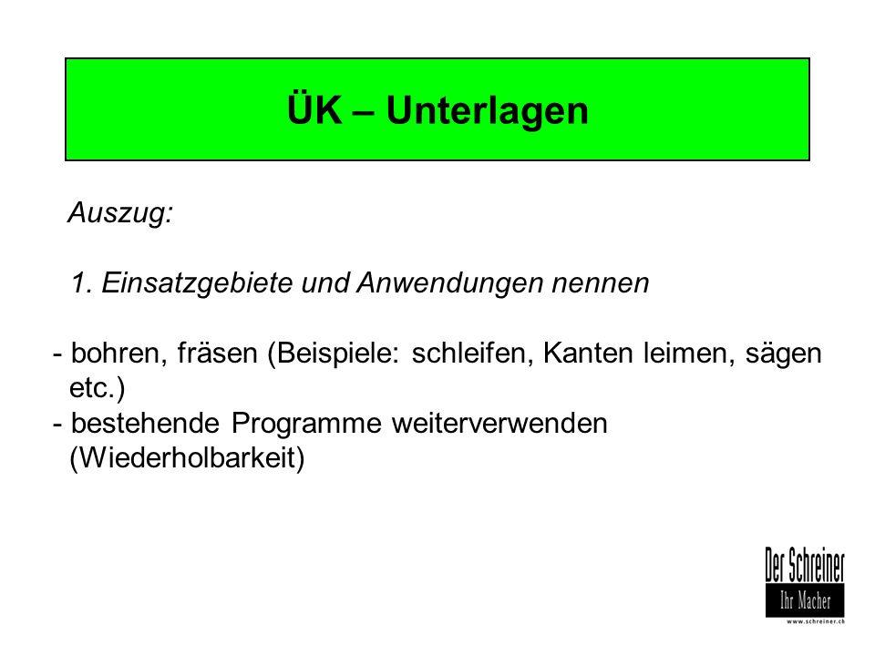 ÜK – Unterlagen Auszug: 1. Einsatzgebiete und Anwendungen nennen