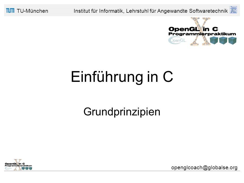 Einführung in C Grundprinzipien