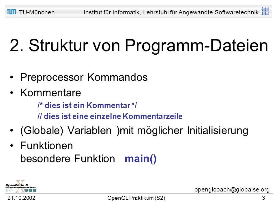 2. Struktur von Programm-Dateien
