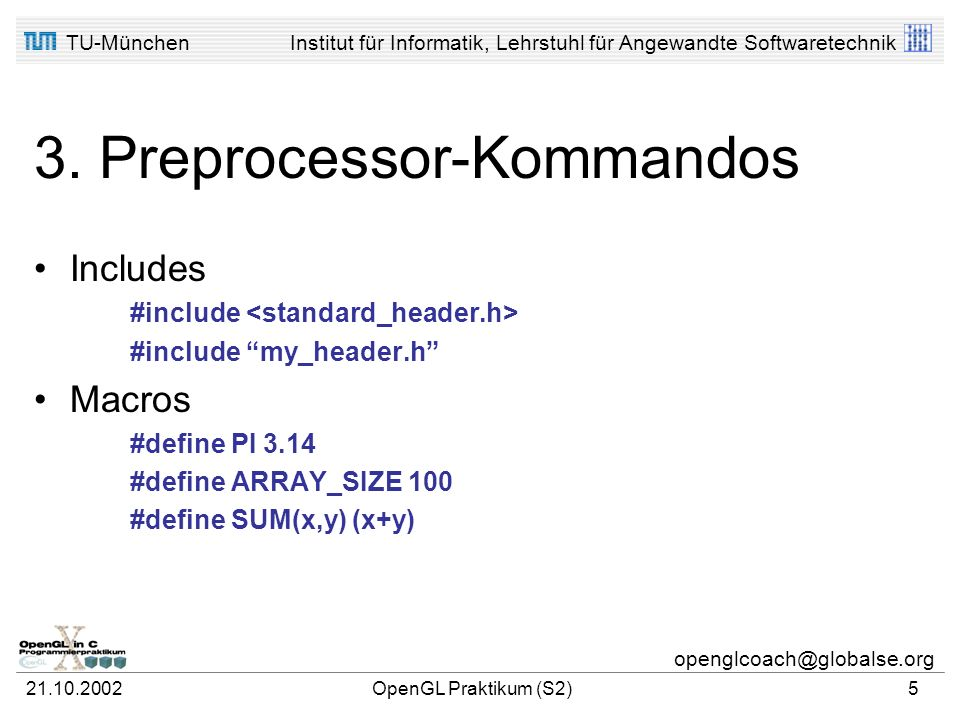 3. Preprocessor-Kommandos