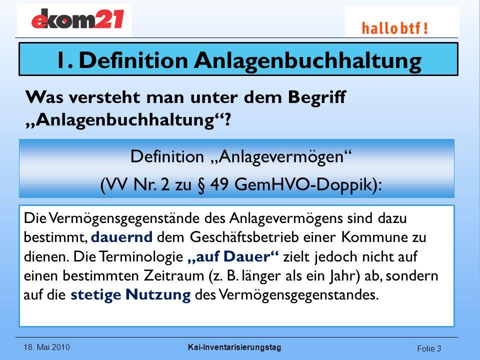 1. Definition Anlagenbuchhaltung