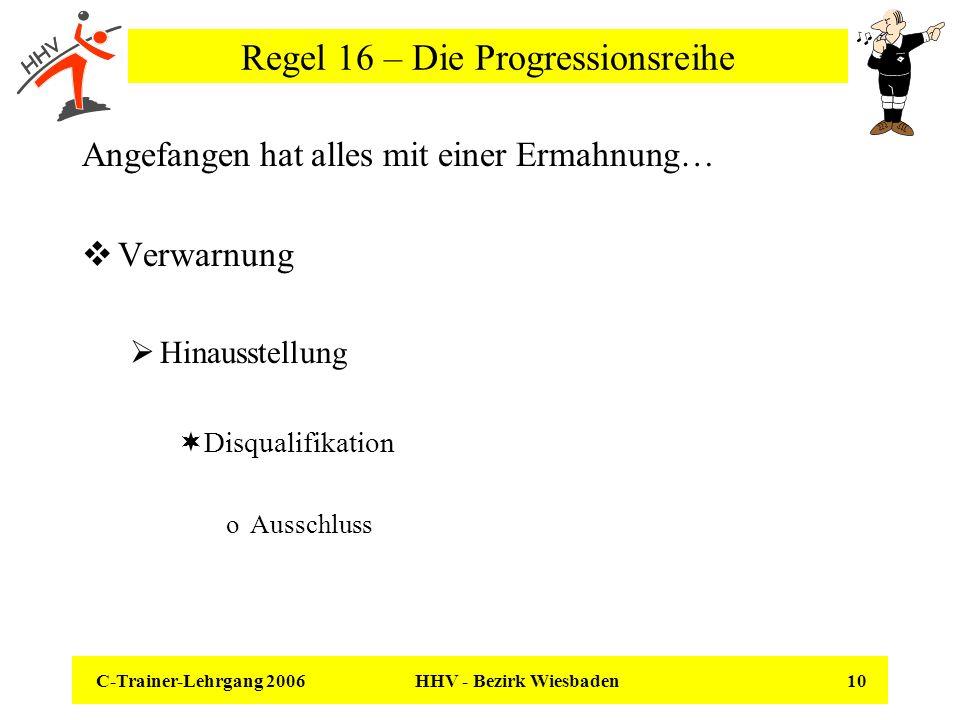 Regel 16 – Die Progressionsreihe