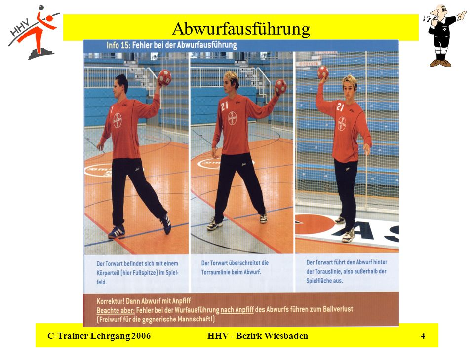 AbwurfausführungC-Trainer-Lehrgang 2006.