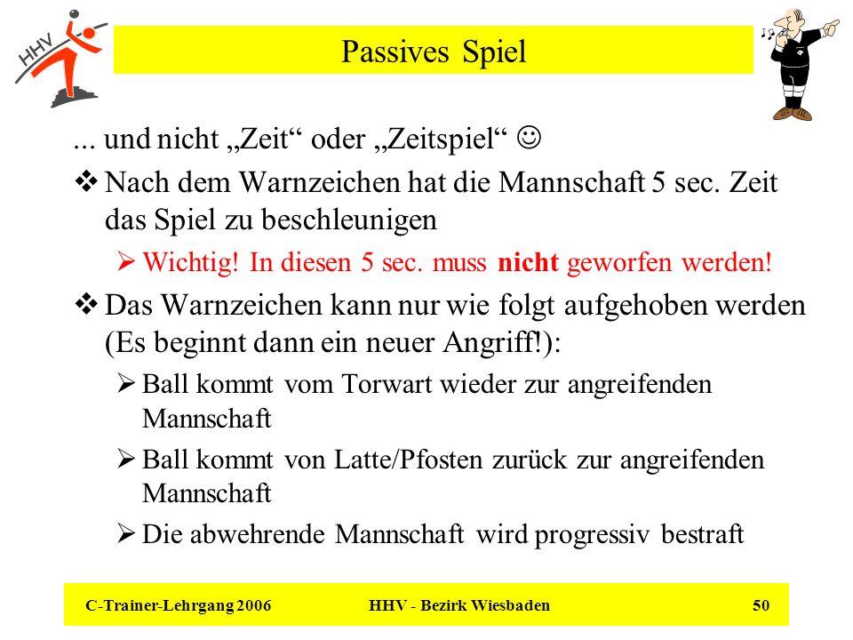 """Passives Spiel ... und nicht """"Zeit oder """"Zeitspiel """