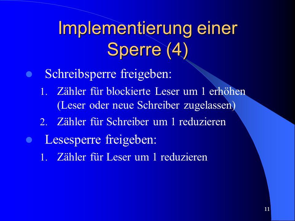 Implementierung einer Sperre (4)