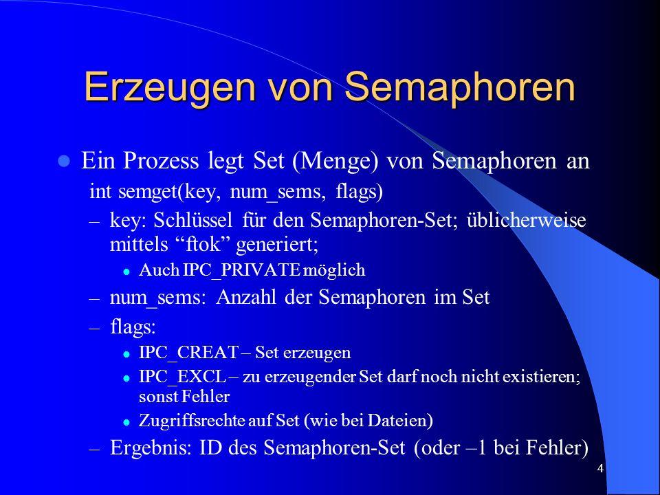 Erzeugen von Semaphoren