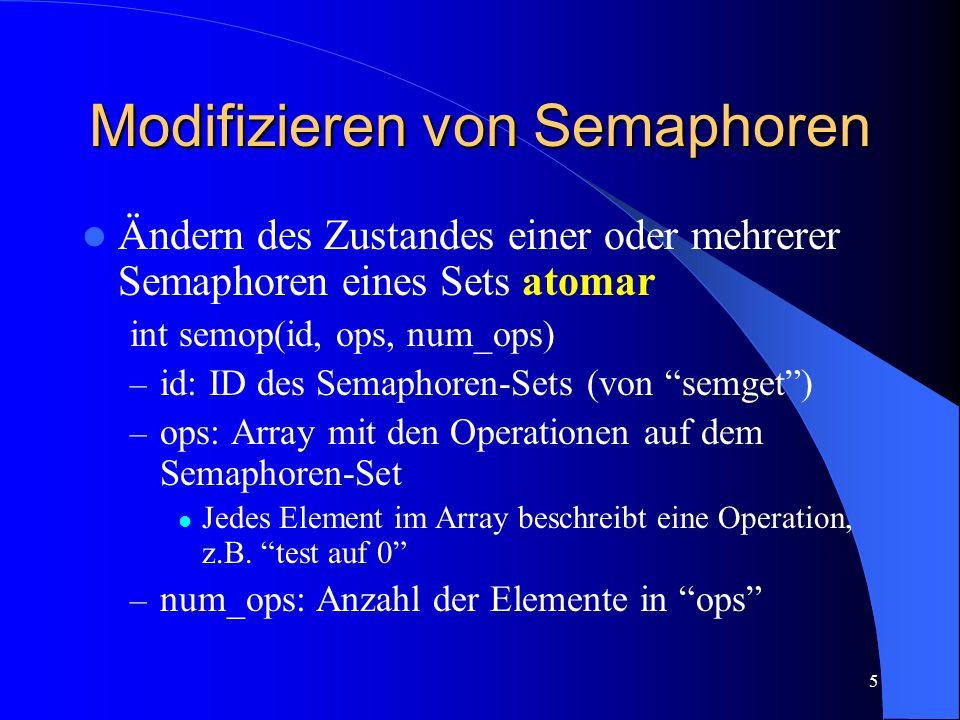 Modifizieren von Semaphoren