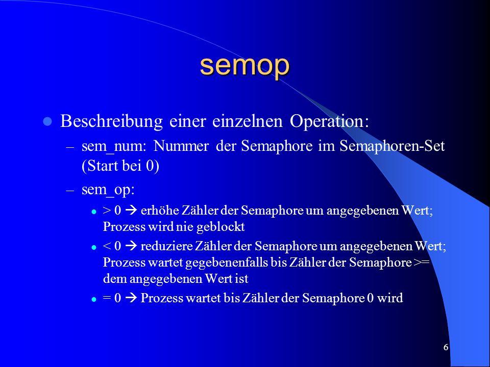 semop Beschreibung einer einzelnen Operation: