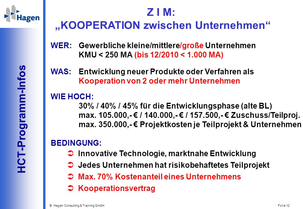 """Z I M: """"KOOPERATION zwischen Unternehmen"""