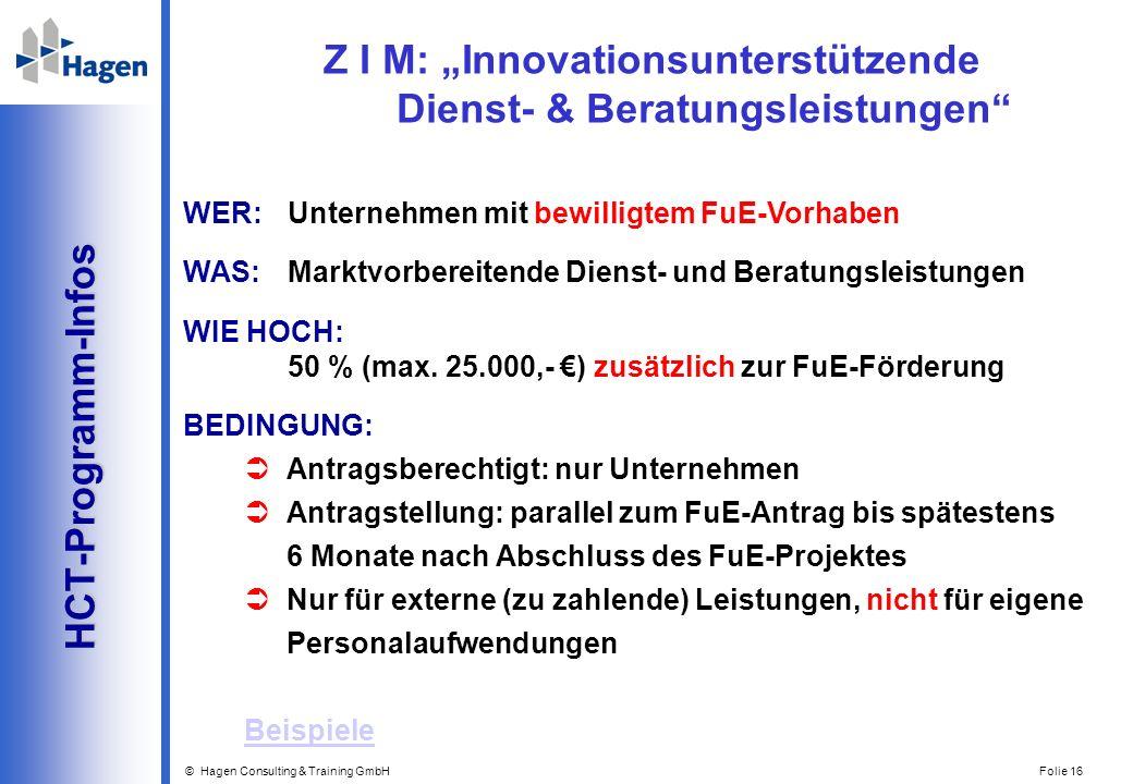 """Z I M: """"Innovationsunterstützende Dienst- & Beratungsleistungen"""
