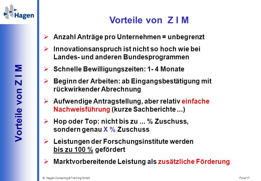 Vorteile von Z I M Vorteile von Z I M