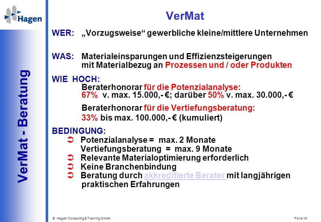 VerMat - Beratung VerMat