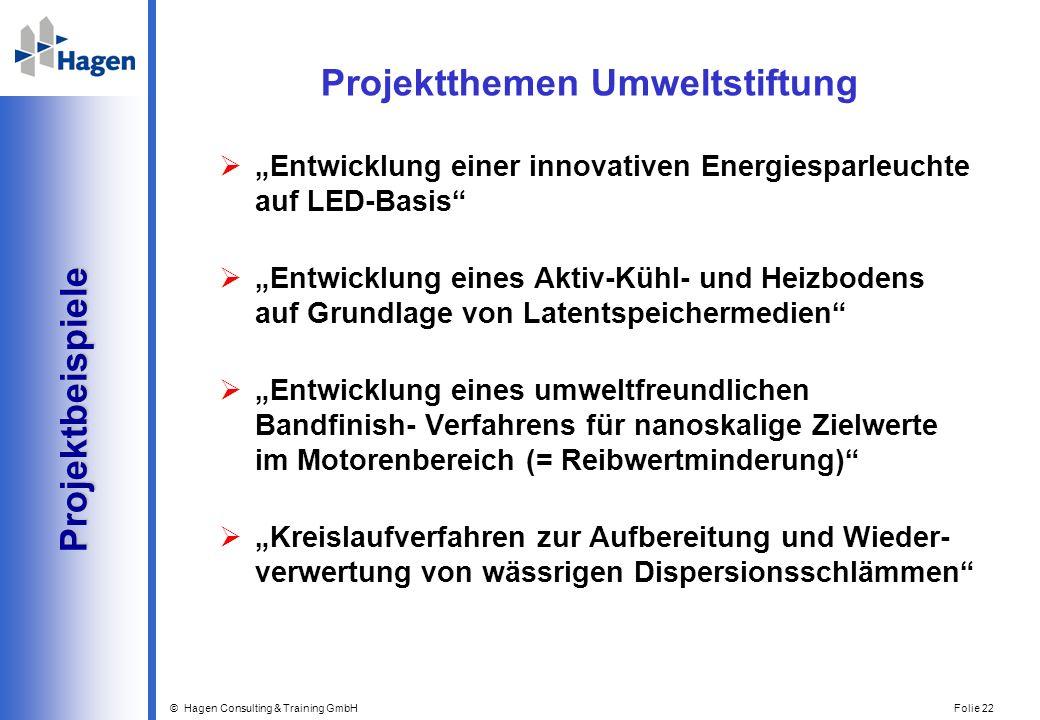 Projektthemen Umweltstiftung