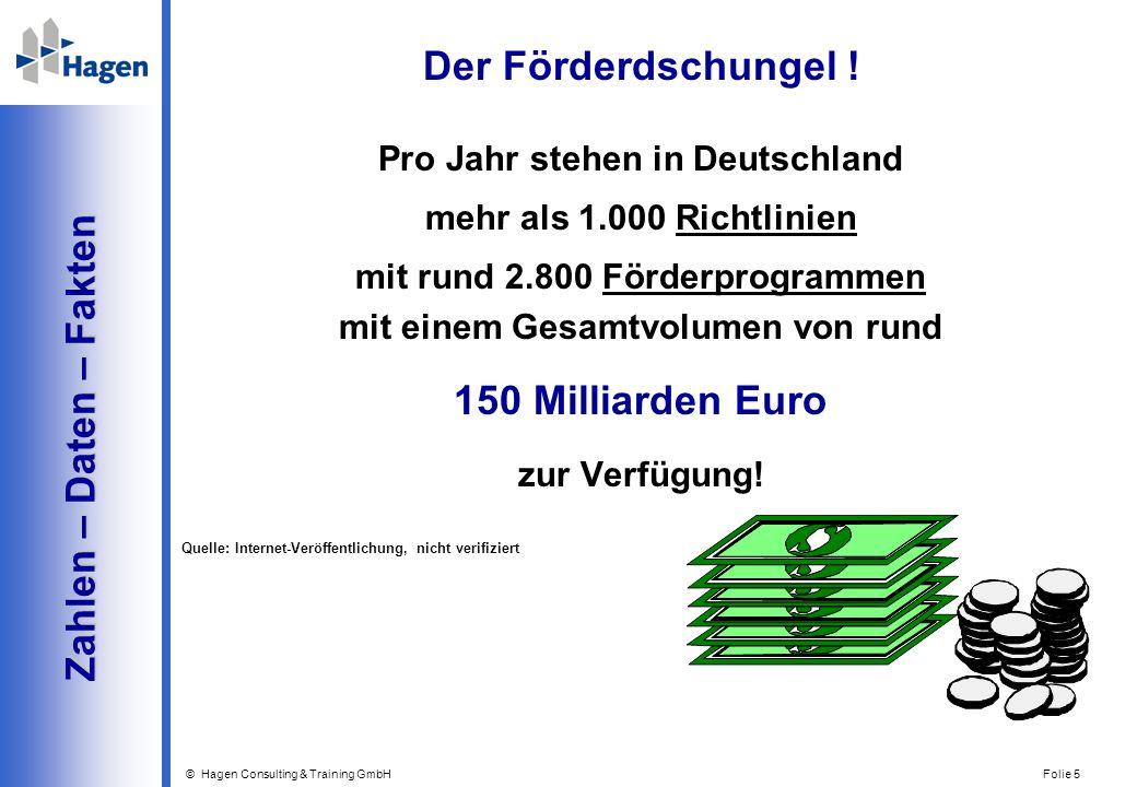 Der Förderdschungel ! 150 Milliarden Euro Zahlen – Daten – Fakten
