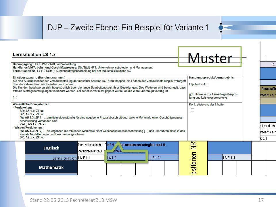 DJP – Zweite Ebene: Ein Beispiel für Variante 1