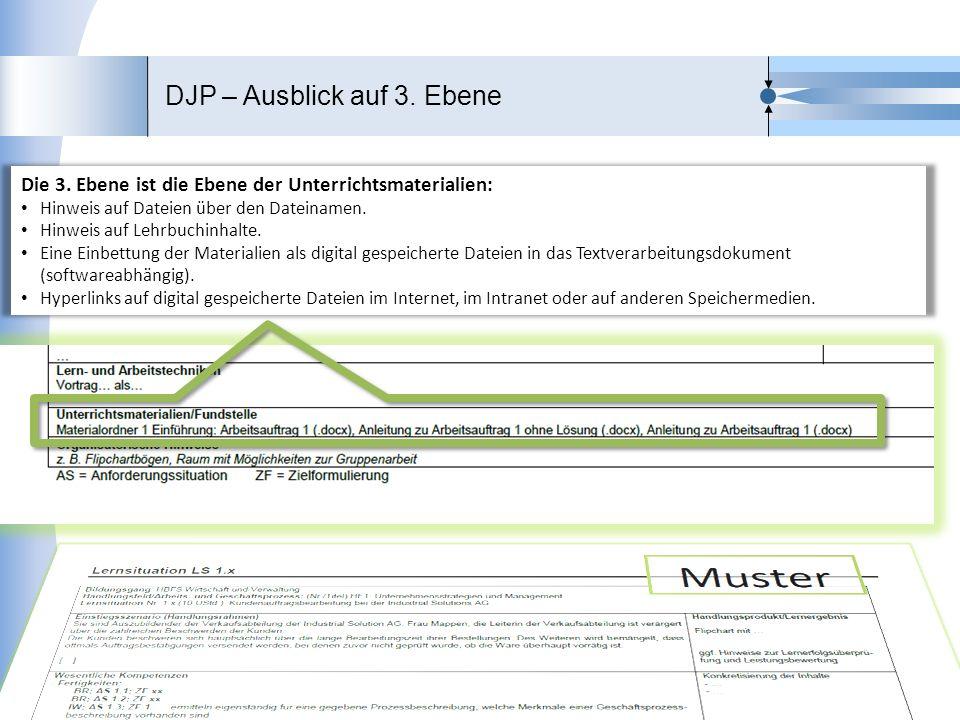DJP – Ausblick auf 3. Ebene