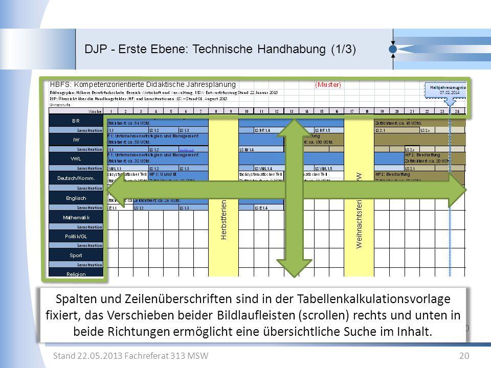 DJP - Erste Ebene: Technische Handhabung (1/3)