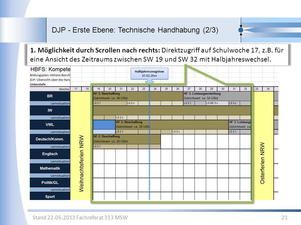 DJP - Erste Ebene: Technische Handhabung (2/3)