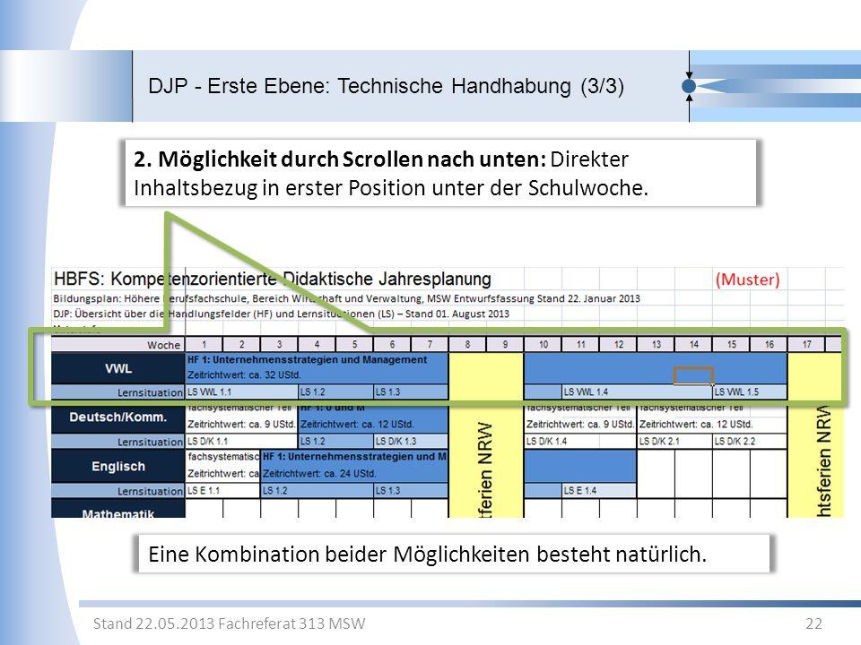DJP - Erste Ebene: Technische Handhabung (3/3)