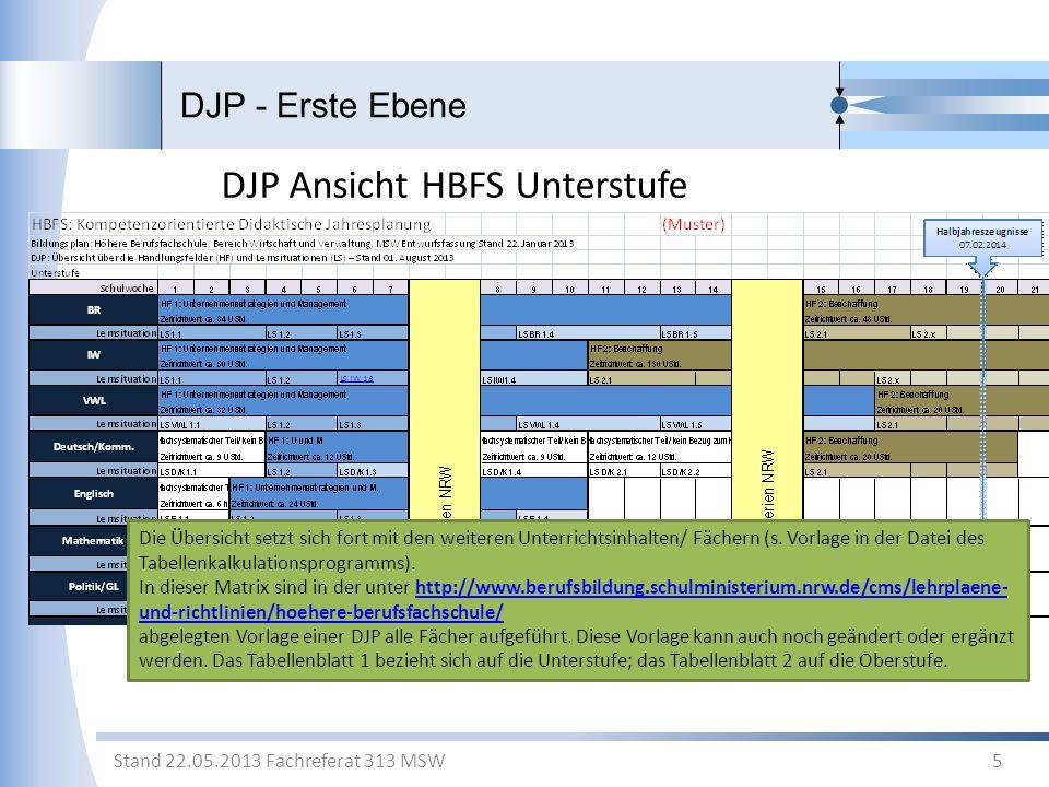 DJP Ansicht HBFS Unterstufe